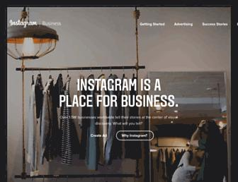 business.instagram.com screenshot
