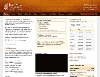 raleighmasjid.org screenshot