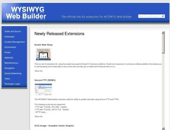 extensions.wysiwygwebbuilder.com screenshot