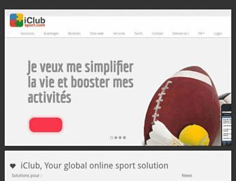 Main page screenshot of iclub.be