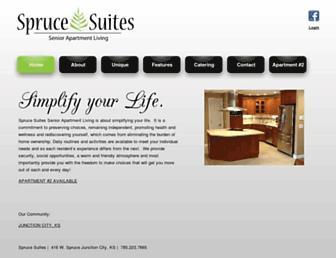 sprucesuites.com screenshot