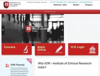 icriindia.com screenshot