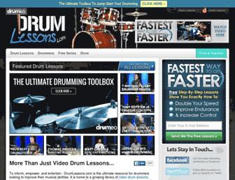 drumlessons.com screenshot