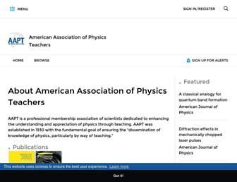 aapt.scitation.org screenshot