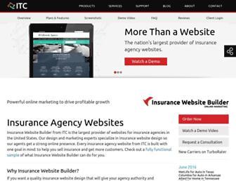 insurancewebsitebuilder.com screenshot