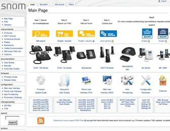 wiki.snom.com screenshot