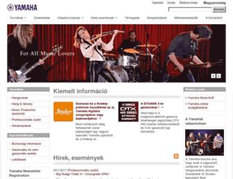 hu.yamaha.com screenshot