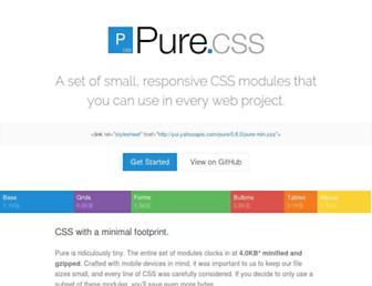 Thumbshot of Purecss.io