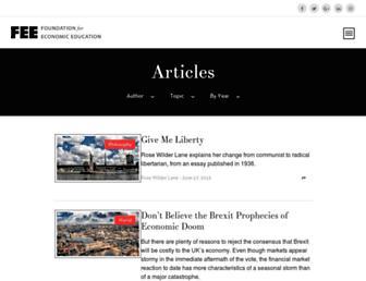 Thumbshot of Thefreemanonline.org