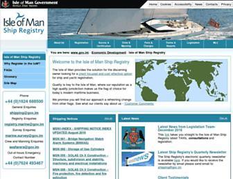 iomshipregistry.com screenshot