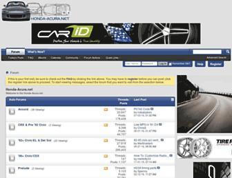 Main page screenshot of honda-acura.net