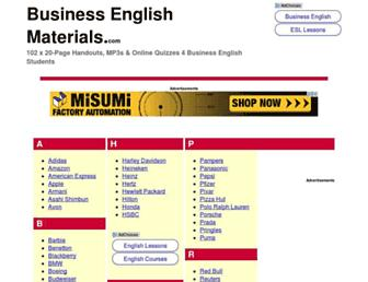 businessenglishmaterials.com screenshot