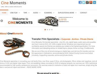 cinemoments.co.uk screenshot