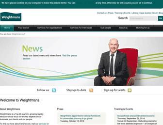 weightmans.com screenshot