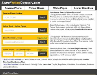 searchyellowdirectory.com screenshot
