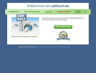 Main page screenshot of ostforum.de