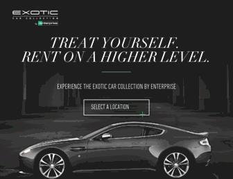 exoticcars.enterprise.com screenshot