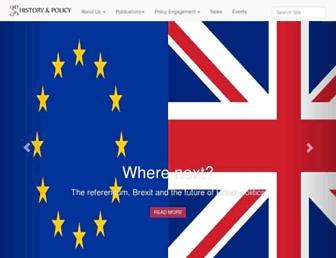 historyandpolicy.org screenshot