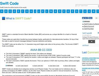 swift-code.com screenshot