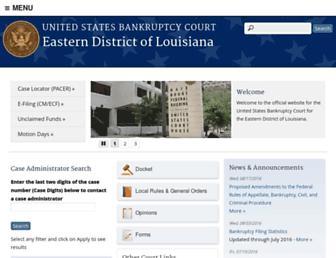 laeb.uscourts.gov screenshot