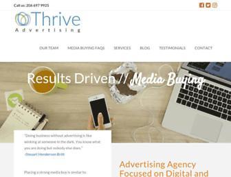 thriveadvertisingco.com screenshot