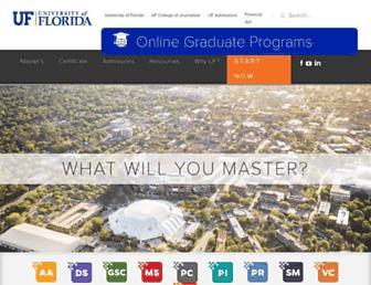onlinemasters.jou.ufl.edu screenshot
