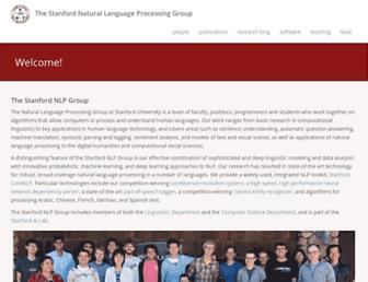 nlp.stanford.edu screenshot