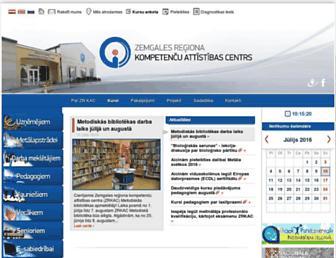 Main page screenshot of zrkac.lv