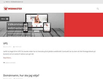 Main page screenshot of webmastern.se