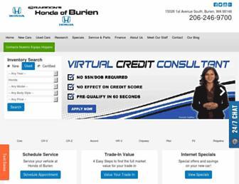 burienhonda.com screenshot