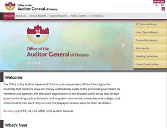 auditor.on.ca screenshot