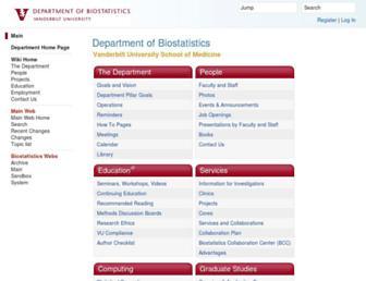biostat.mc.vanderbilt.edu screenshot