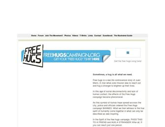 Main page screenshot of freehugscampaign.org