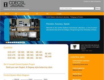 coecsl.ece.illinois.edu screenshot