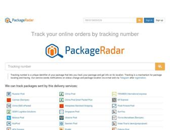 packageradar.com screenshot