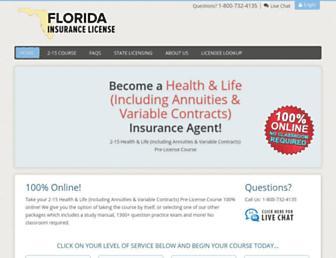 floridainsurancelicense.com screenshot
