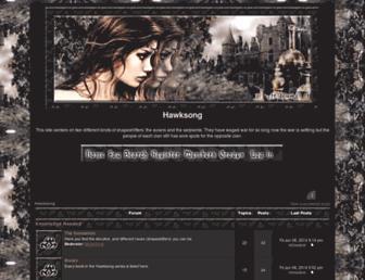 hawksong.forumotion.com screenshot