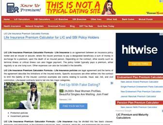liccalculatorpremium.com screenshot