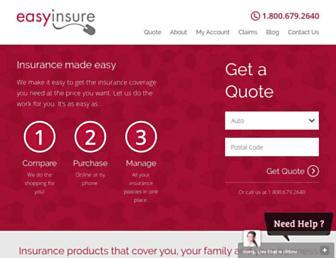 easyinsure.ca screenshot