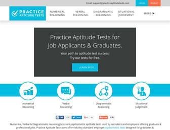 practiceaptitudetests.com screenshot