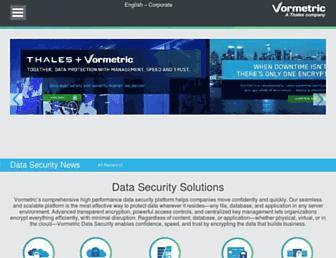 Thumbshot of Vormetric.com