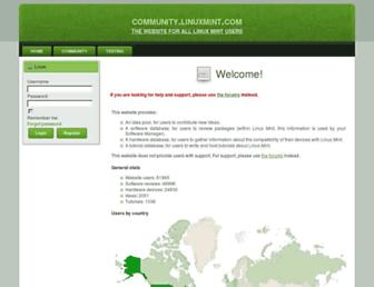 community.linuxmint.com screenshot