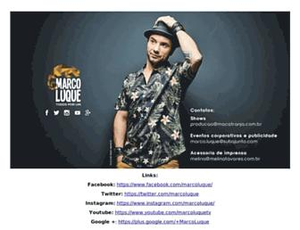 Main page screenshot of marcoluque.com.br