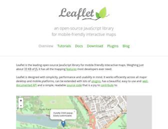 leafletjs.com screenshot