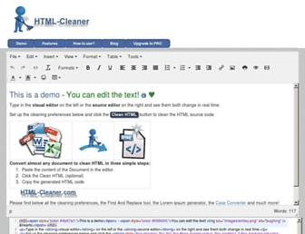 html-cleaner.com screenshot