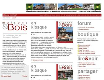 maisons-et-bois.com screenshot