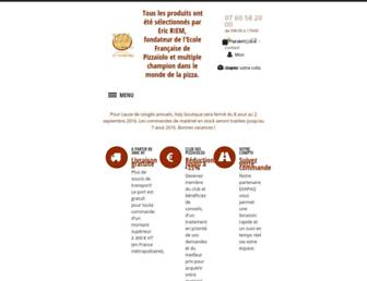 Main page screenshot of pizzaboutique.fr