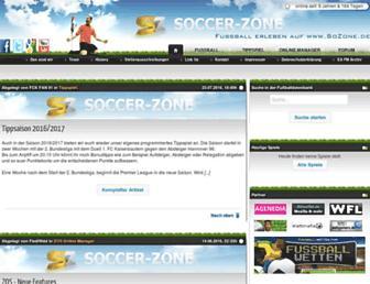 Main page screenshot of sozone.de