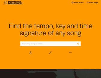 findsongtempo.com screenshot