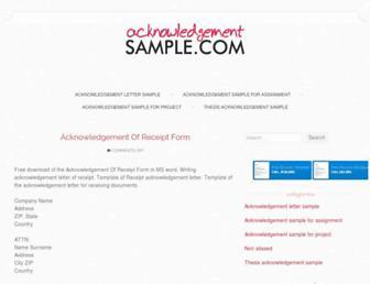 acknowledgementsample.com screenshot